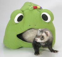 Marshall Ferret Cage Leisure Lodge Bed Tunnel Toy Frog