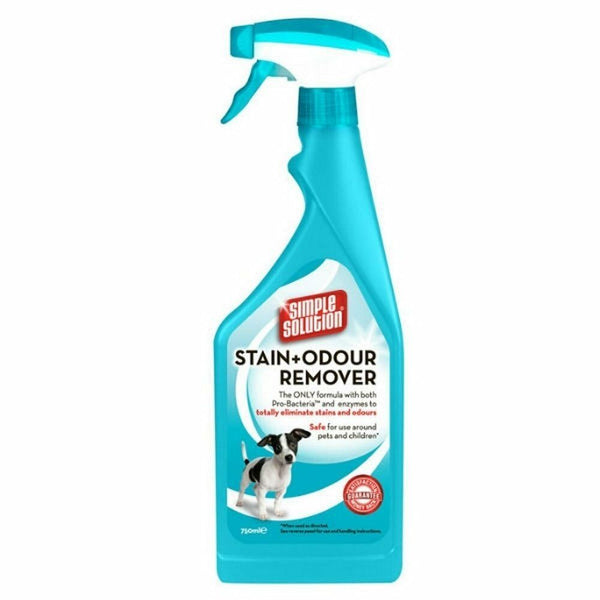 Simple Solution Stain & Odour Remover 750ml spray, dog cat ferret rabbit wine