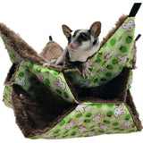 Pet Bird Hamster Ferret Rat Cat Squirrel Hammock Hanging Cage Nest Bed House Toy