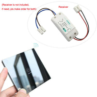 Wireless Light Switch Remote Control Touch Glass Smart Home Gadget Transmitter*1