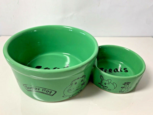 Pet Food & Treats Double Bowl SuperPet Rabbit Ferret Mice -Bowl