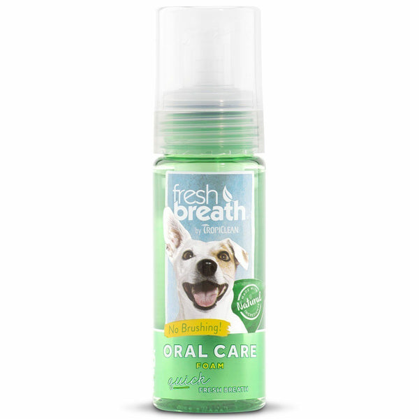 TropiClean Fresh Breath Oral Care Foam, 4.5 oz