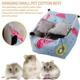 Pet Bird Hamster Ferret Rat Squirrel Hammock Hanging Cage Nest Bed House Toy