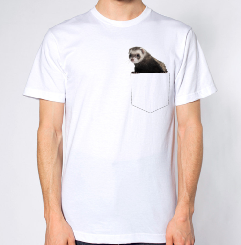 Ferret T-Shirt Fake Crest Pocket