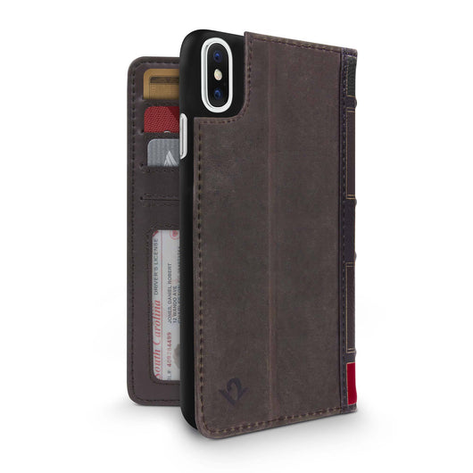 BookBook for iPhone, Vintage leather wallet case with removable shell - Twelve South