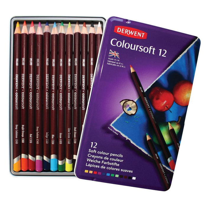 Derwent Coloursoft Tin of 12