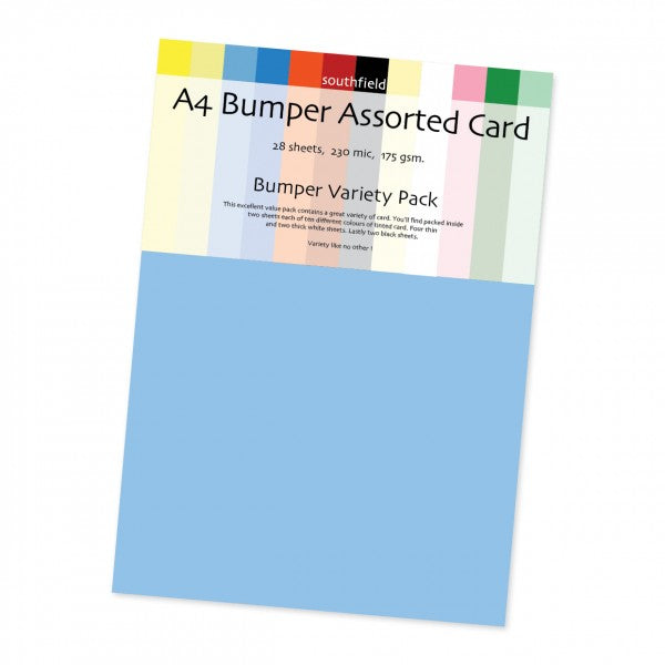 A4 Bumper Assorted Bright Card