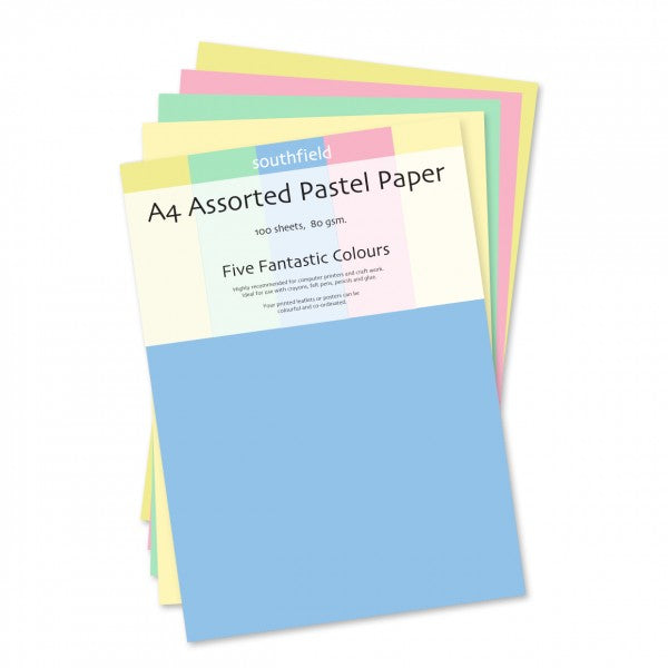 Pastel Paper Assorted 100 sheets