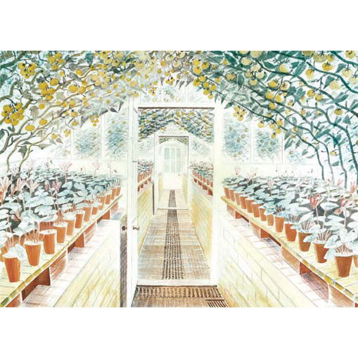 Eric Ravilious - The Greenhouse: Cyclamen And Tomatoes