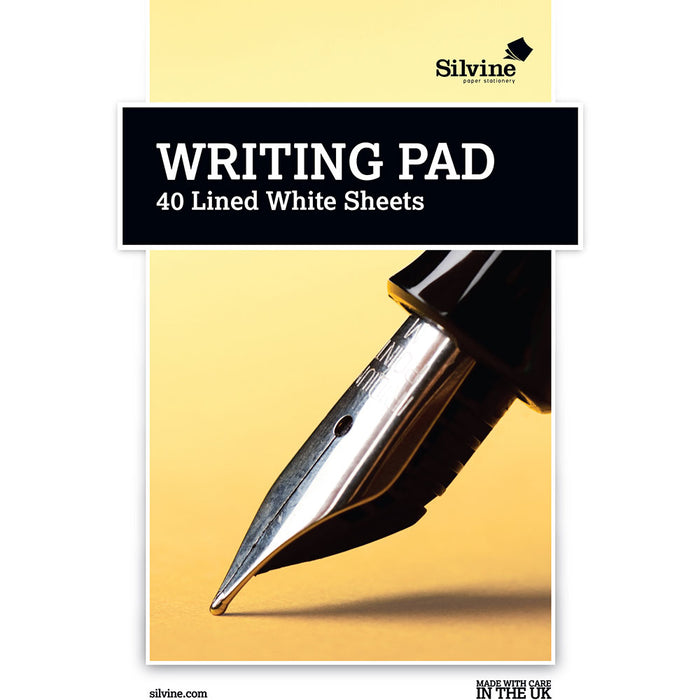 A5 White Ruled Writing Pad