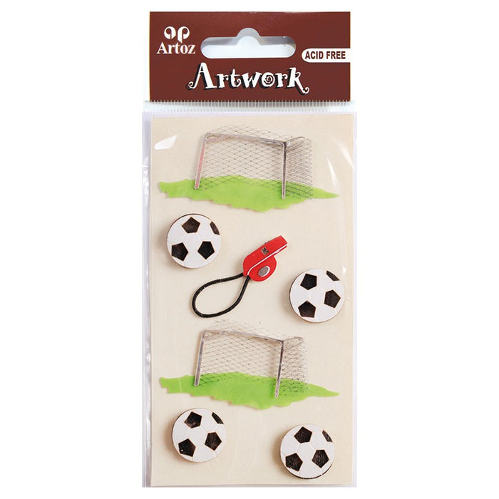 Artoz Art-work 3d Sticker Football/goal