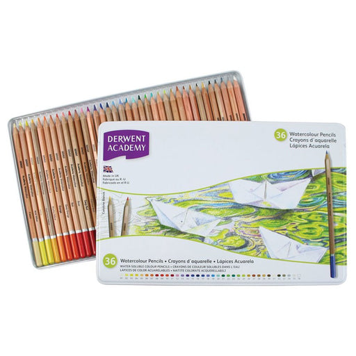 Derwent Academy Watercolour Tin Of 36
