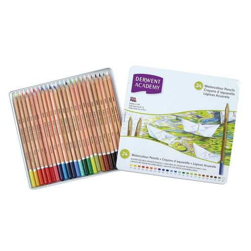 Derwent Academy Watercolour Tin Of 24