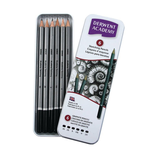 Derwent Academy Sketching Tin Of 6
