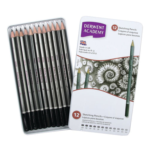 Derwent Academy Sketching Tin Of 12