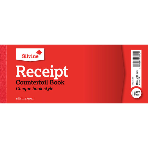Receipt Book 80x202mm