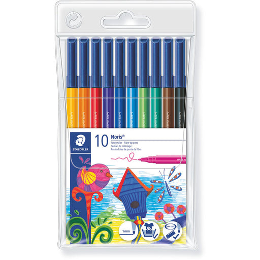 Noris Colouring Felt Tip Pens Wallet 10