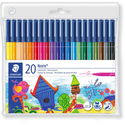 Noris Colouring Felt Tip Pens Wallet 20