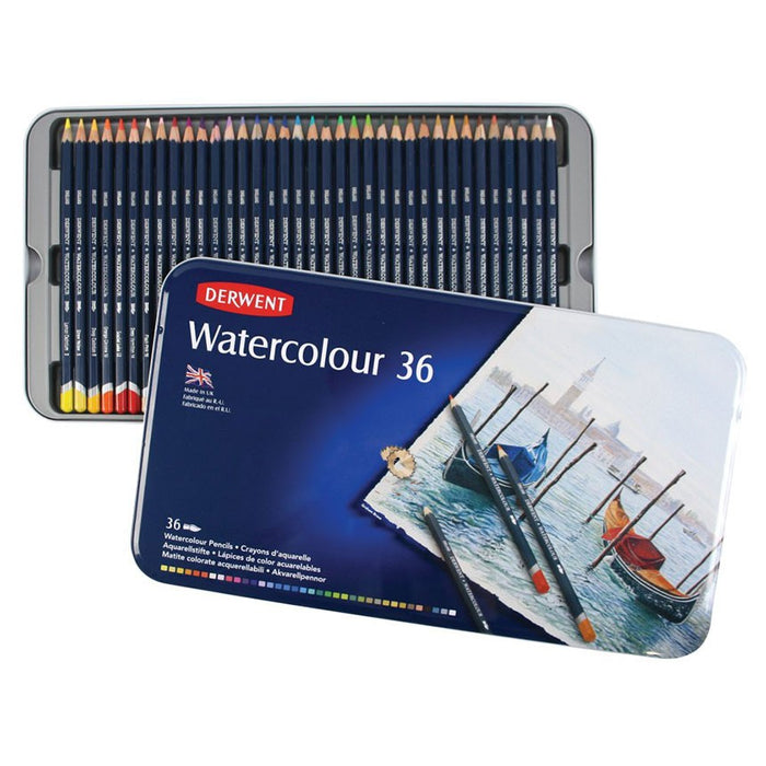 Derwent Watercolour Tin of 36