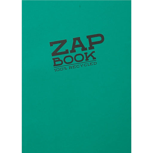 Zap Book Glued Recycled Sketch Pad 11x15cm