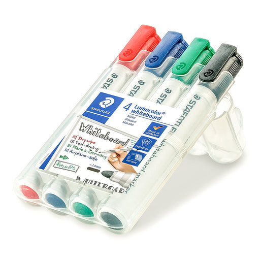 Lumocolor Drywipe Markers Bullet Tip 4 Assorted Colours