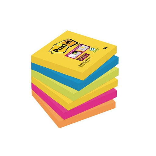 Post-it Super Sticky 76x76mm Rio 654-6SS-RIO-EU
