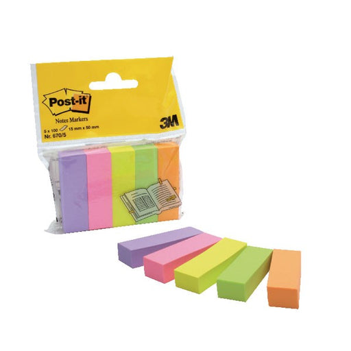 500 x Post-it Page Markers Assorted 670-5