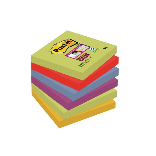 Post-it Super Sticky 76x76mm Marrakesh 654-6SS-MAR-EU
