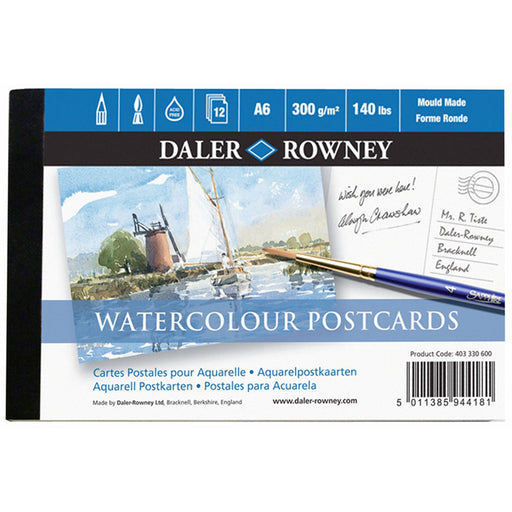 Watercolour Postcard Pad A6