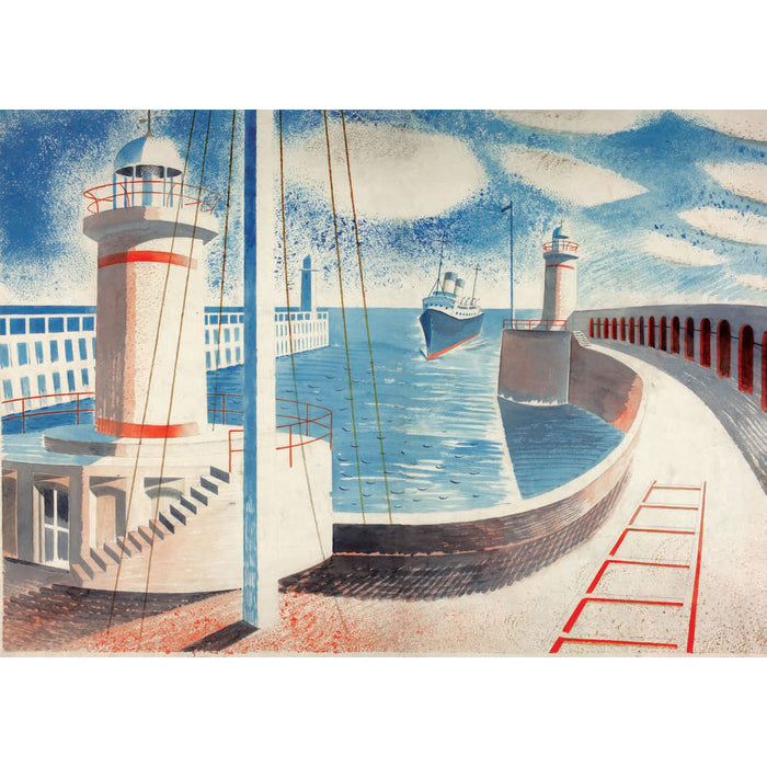 Eric Ravilious - Newhaven Harbour