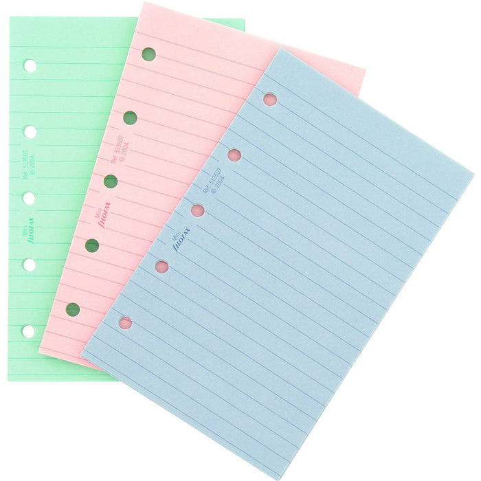 Mini Fashion coloured ruled notepaper