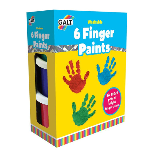 Galt 6 Finger Paints - Washable