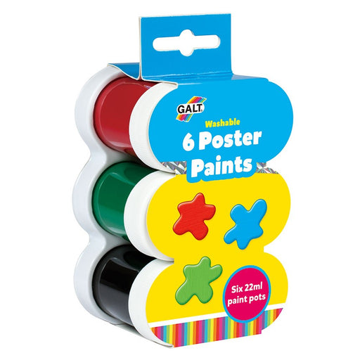 Galt 6 Poster Paints - Washable