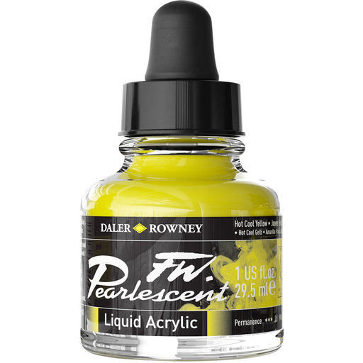 FW Pearlescent Ink 29.5ml Hot Cool Yellow