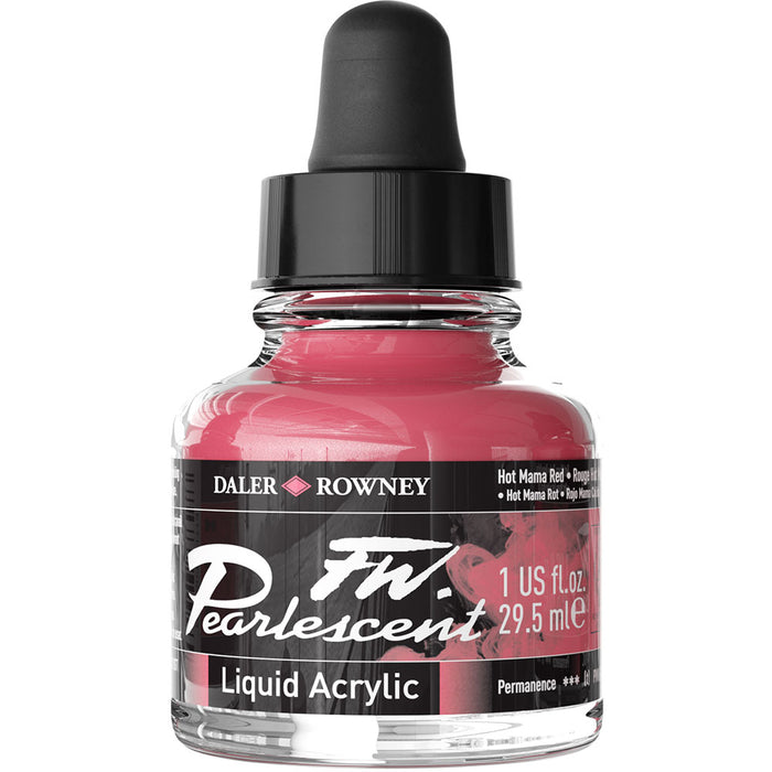 FW Pearlescent Ink 29.5ml Hot Mama Red