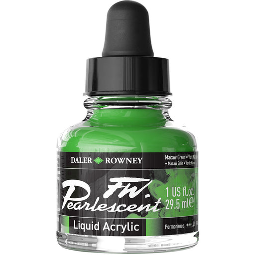 FW Pearlescent Ink 29.5ml Macaw Green