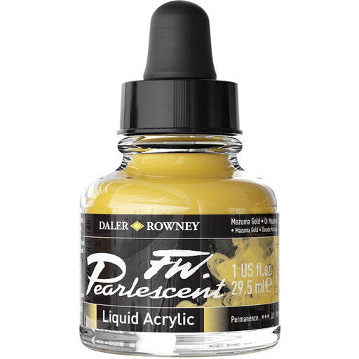 FW Pearlescent Ink 29.5ml Mazuma Gold