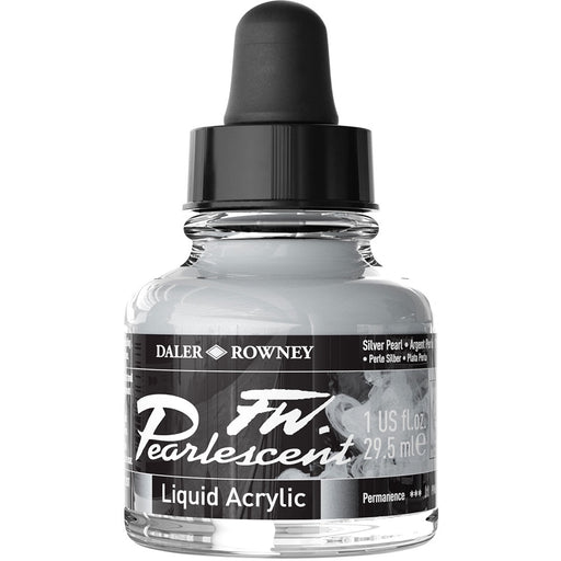 FW Pearlescent Ink 29.5ml Silver Pearl