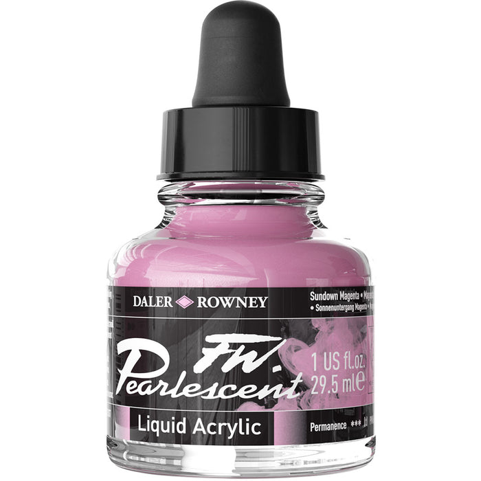 FW Pearlescent Ink 29.5ml Sundown Magenta