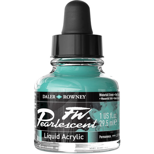 FW Pearlescent Ink 29.5ml Waterfall Green