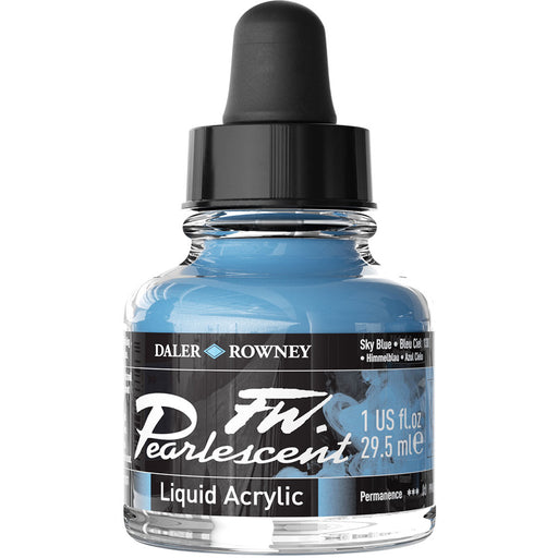 FW Pearlescent Ink 29.5ml Sky Blue