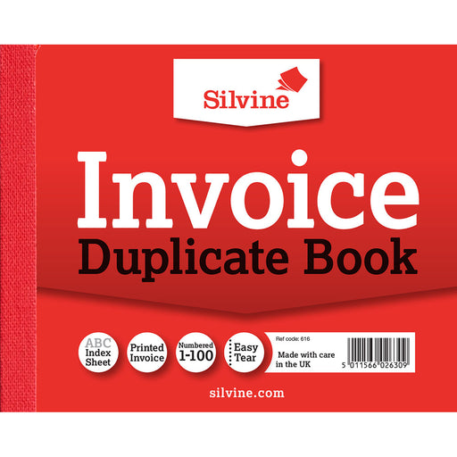 Duplicate Invoice Book 102x127mm