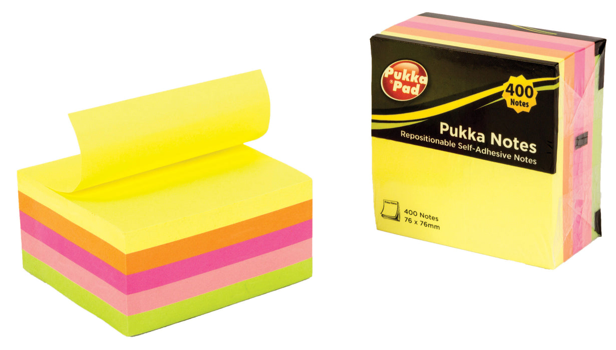 Pukka Pukka Notes Cube, 76mm X 76mm Asst