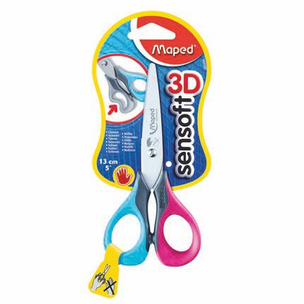 Maped Sensoft Left Hand Scissors 13.5cm