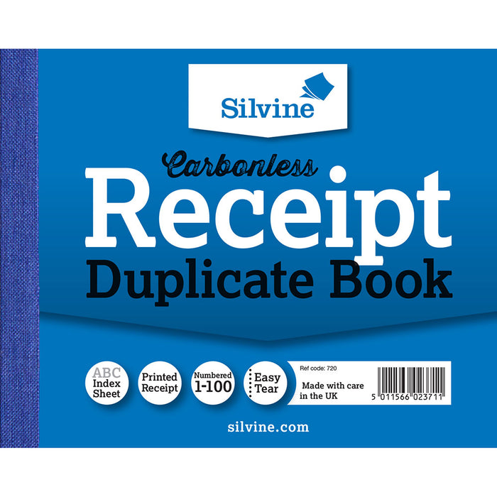 Carbonless Duplicate Receipt Book