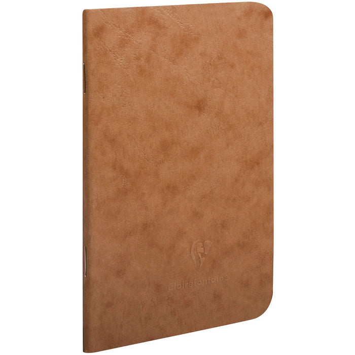 Age Bag Stapled Notebook A6 Brown