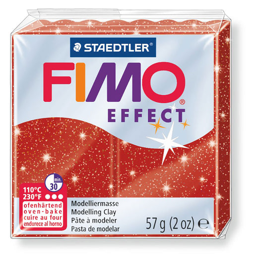 Fimo Effect 58g Glitter Red