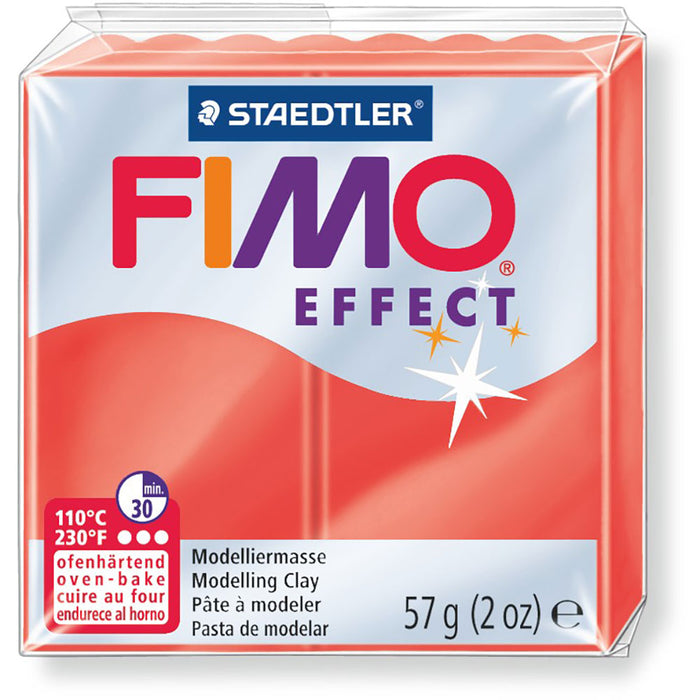 Fimo Effect 58g Transparent Red