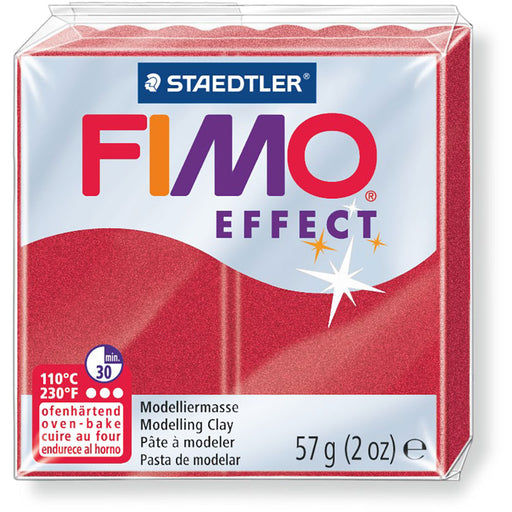 Fimo Effect 58g Metallic Ruby Red
