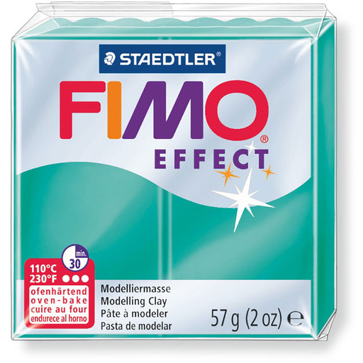 Fimo Effect 58g Transparent Green